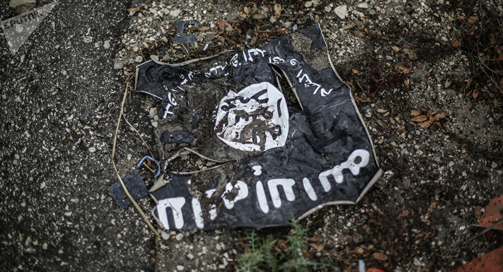 Bandera del grupo yihadista Estado Islámico (Archivo)