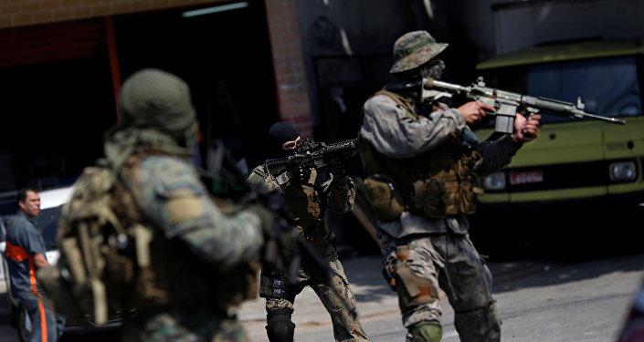 Militares en servicio en Río de Janeiro