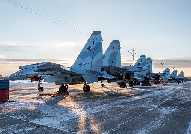 Cazas Su-35 rusos