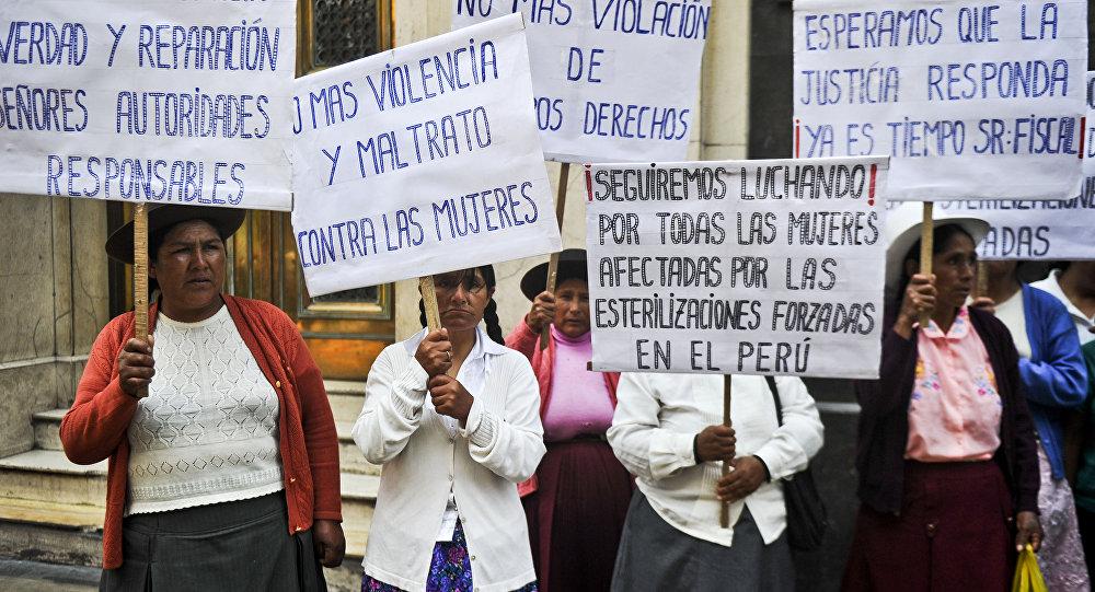 Protesta de mujeres indígenas