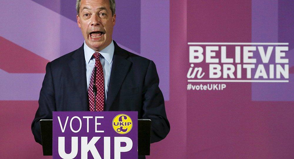 Nigel Farage, el líder del Partido de la Independencia del Reino Unido (UKIP)