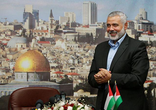 Ismail Haniyeh, el ex primer ministro palestino y uno de los líderes del Movimiento de Resistencia Islámica (Hamás),