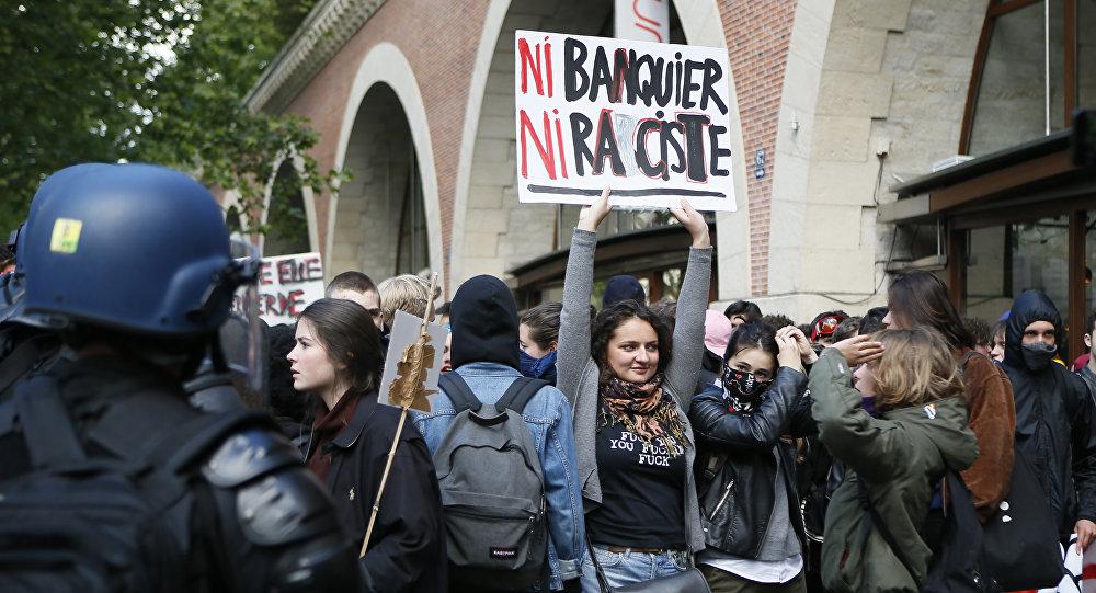 Protestas estudiantiles en París (archivo)