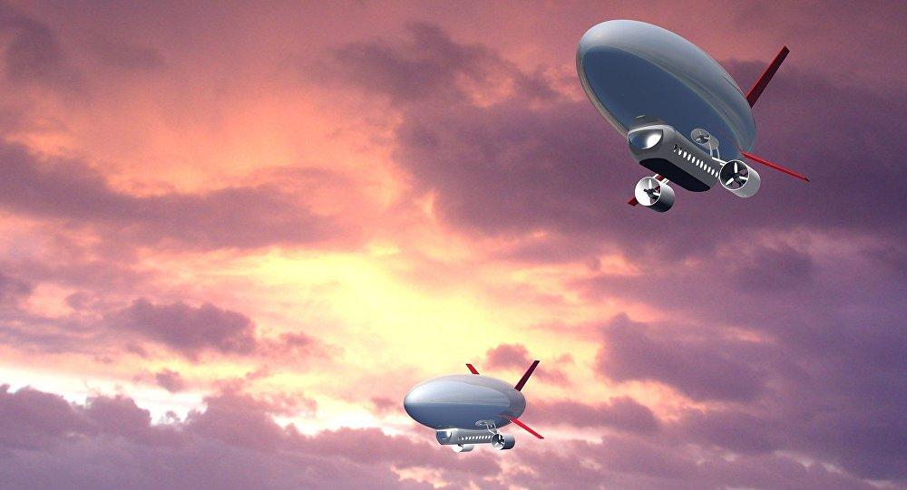Los zepelines (ilustración)