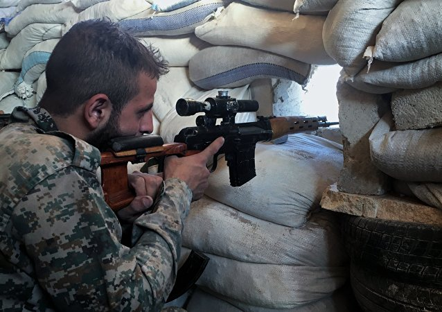 Un soldado del Ejército sirio