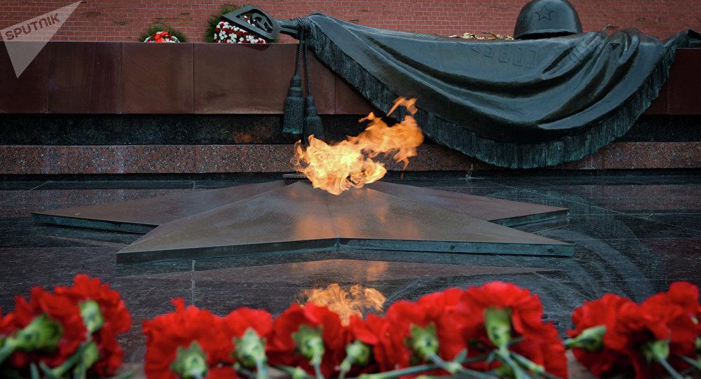 Tumba del Soldado Desconocido en Moscú, Rusia (archivo)