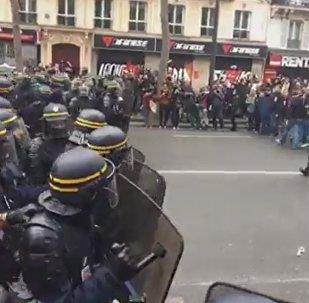 Protestas contra Emmanuel Macron en Francia