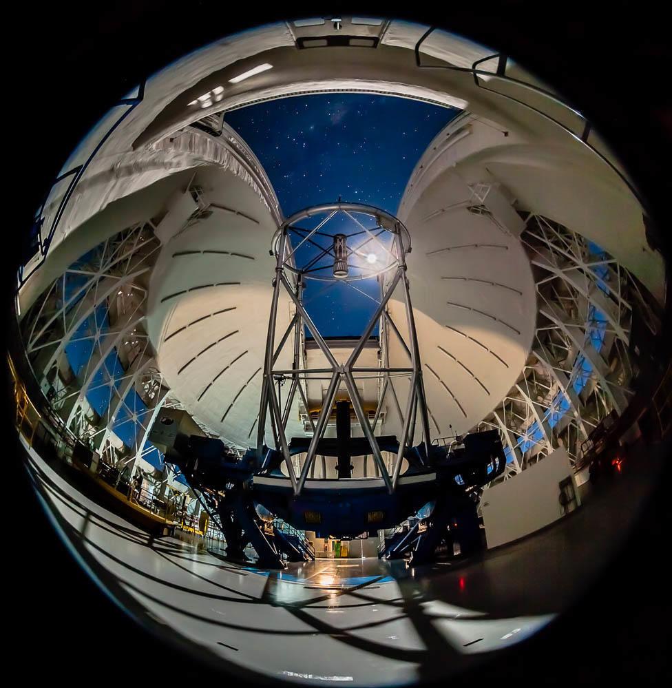 El observatorio Gemini Sur, en Chile, desde el que se ha podido analizar el asteroide