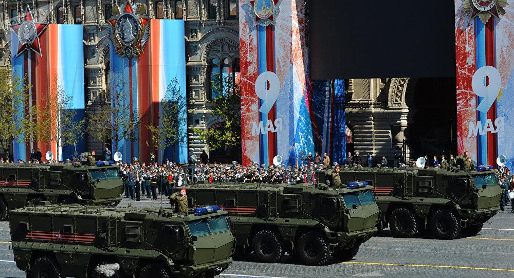 Los tanques Taifun-K participan del desfile del 9 de mayo en Moscú (archivo)