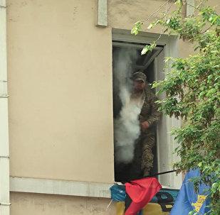 El último combate: Regimiento Inmortal resiste un ataque de nacionalistas en Kiev