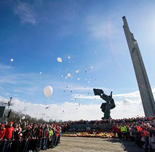 Regimiento inmortal en Riga, Letonia