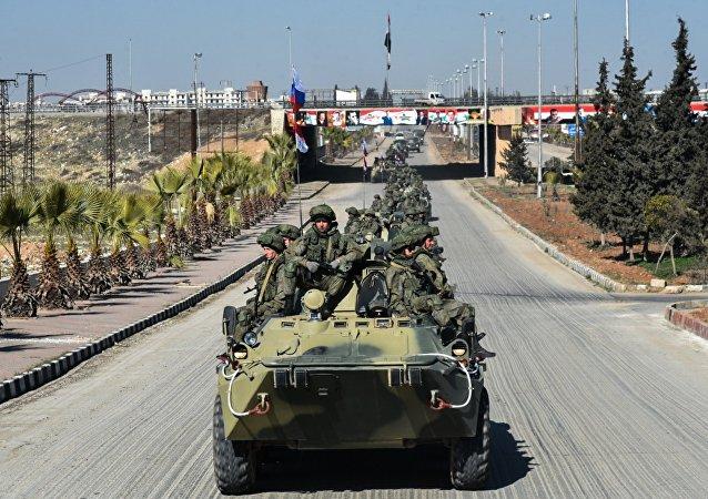 El envío de ingenieros militares de las Fuerzas Armadas rusas de Alepo