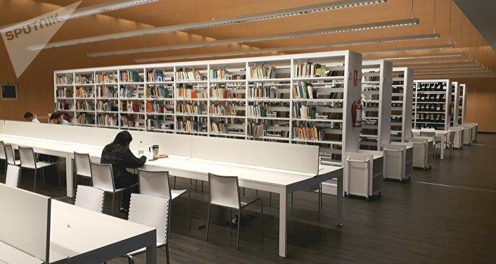 Biblioteca de la Facultad de Información y Comunicación de la Universidad de la República de Uruguay.