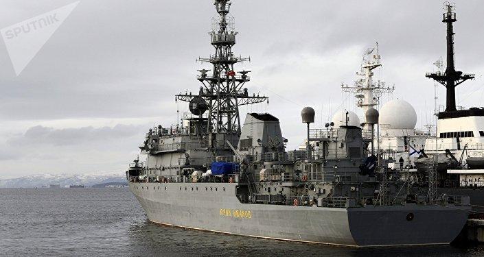 Buque para misiones especiales Yuri Ivanov de la Flota del Norte de Rusia