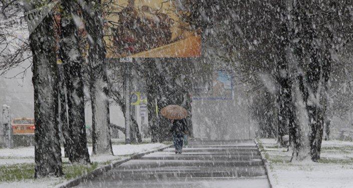 Nieve en mayo, Moscú