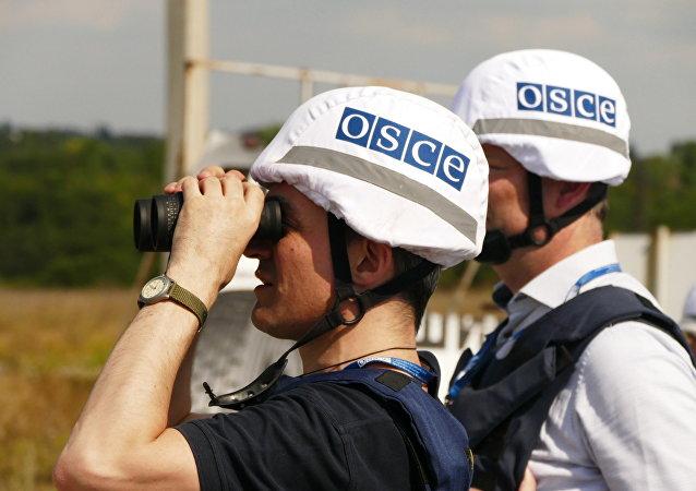 Los inspectores de OSCE examinan el territorio de Donetsk