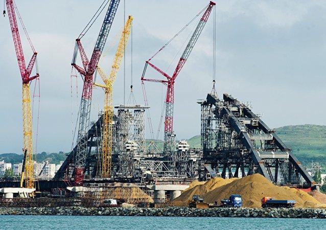Construcción de puente de Crimea