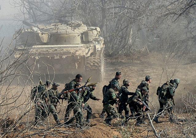 Soldados del Ejército sirio durante una operación (archivo)