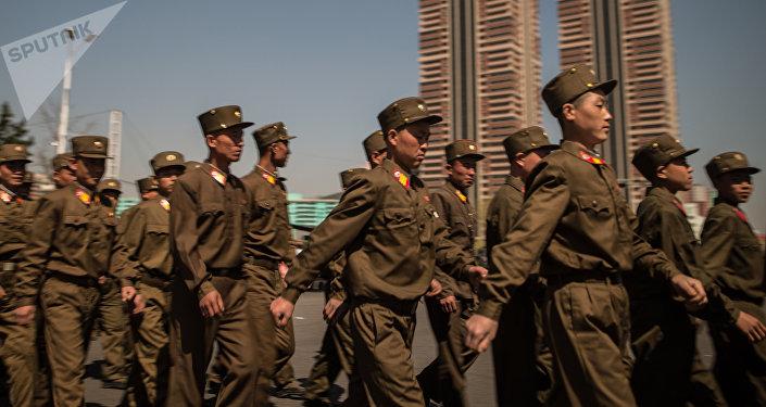 Los soldados del Ejército Popular de Corea del Norte (archivo)