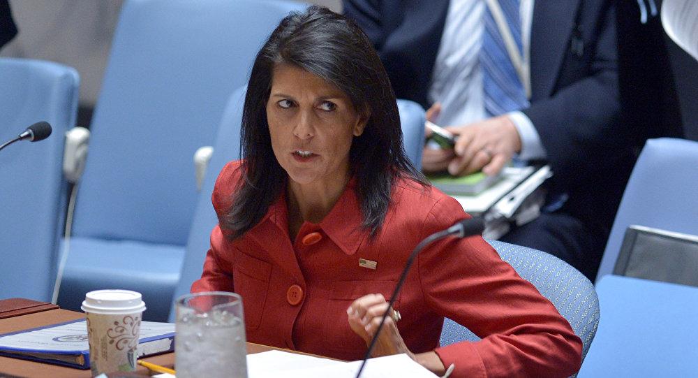 Nikki Haley, la embajadora de EEUU ante la ONU (archivo)