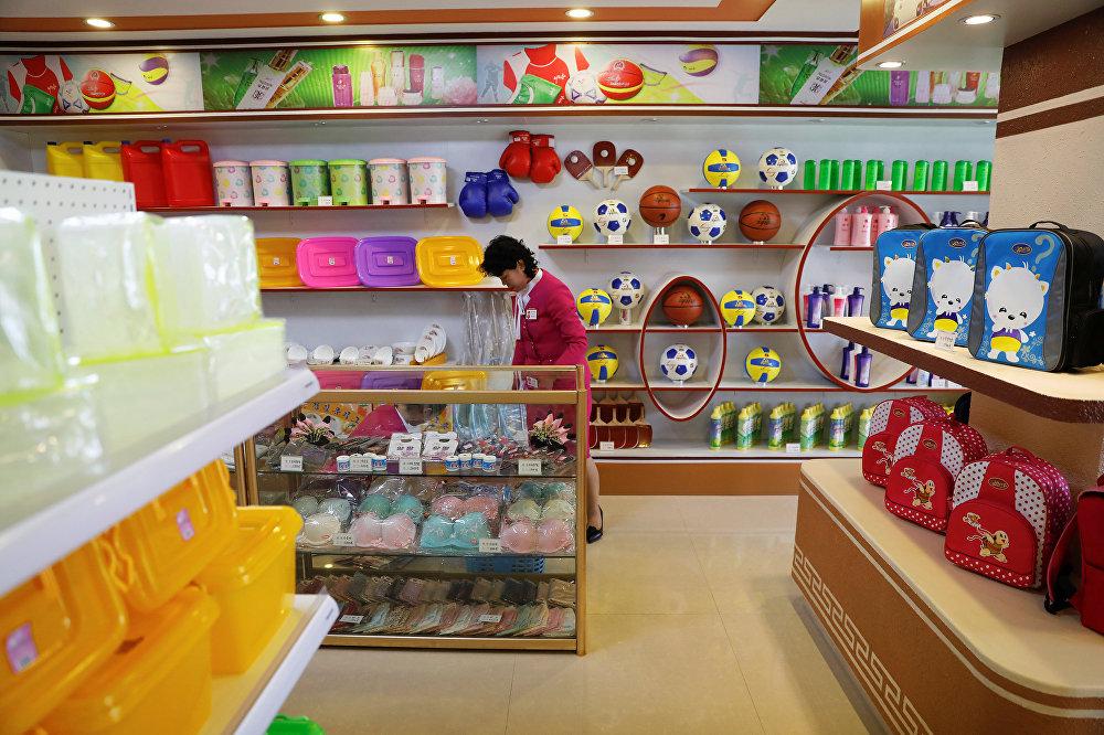 Una tienda en Pyonyang, Corea del Norte