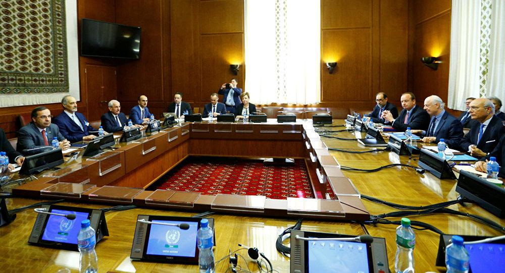 La sexta ronda de las negociaciones intersirias en Ginebra (archivo)