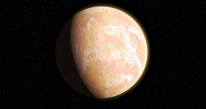 Ilustración gráfica de un exoplaneta
