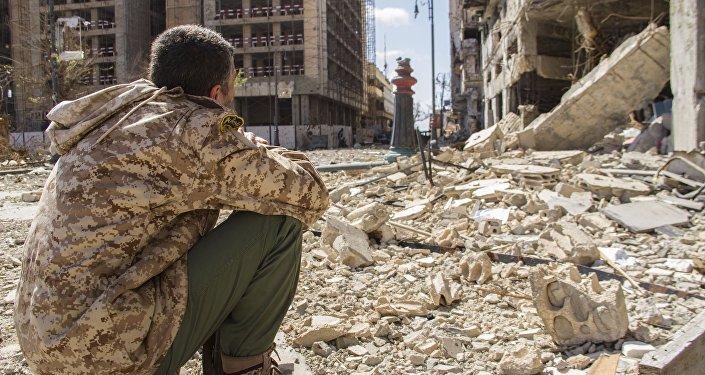 Ruinas de Bengasi, Libia, foto archivo