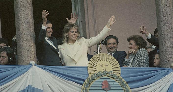 Carlos Menem, expresidente de Argentina y su exesposa, Zulema Yoma (archivo)