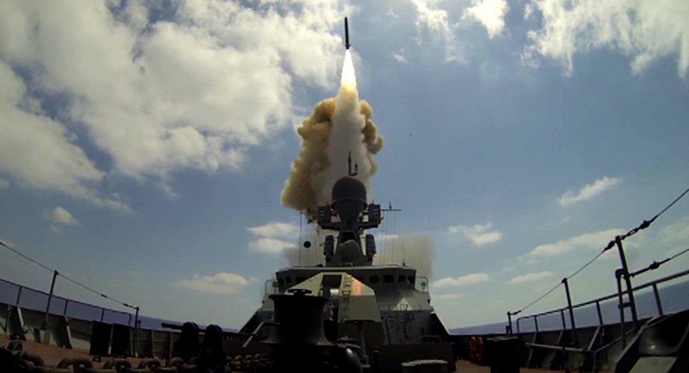 Kalibr cruise missiles fired at Jabhat Al-Nusra from Mediterranean Sea