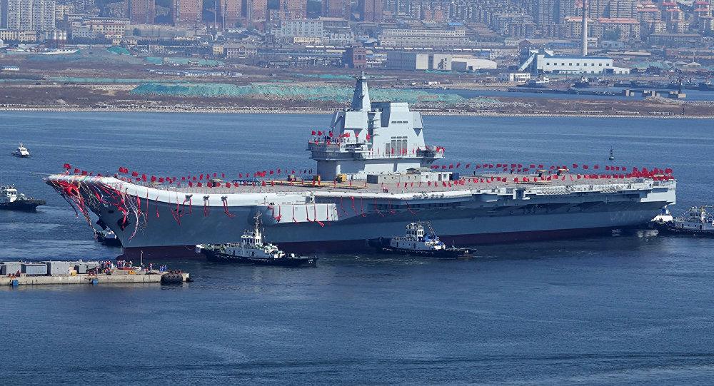 El segundo portaviones de la Armada de China, el Type 001A