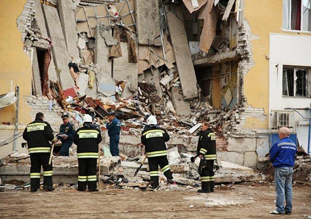 La explosión de gas en un edificio residencial en la ciudad rusa de Volgogrado