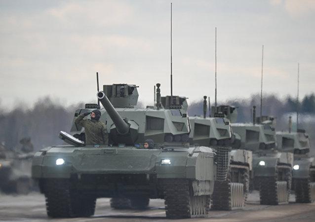 Tanques rusos T-14 Armata