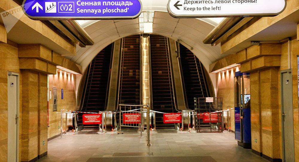 Metro de San Petersburgo tras el atentado