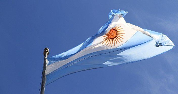 Bandera de Argentina (imagen referencial)