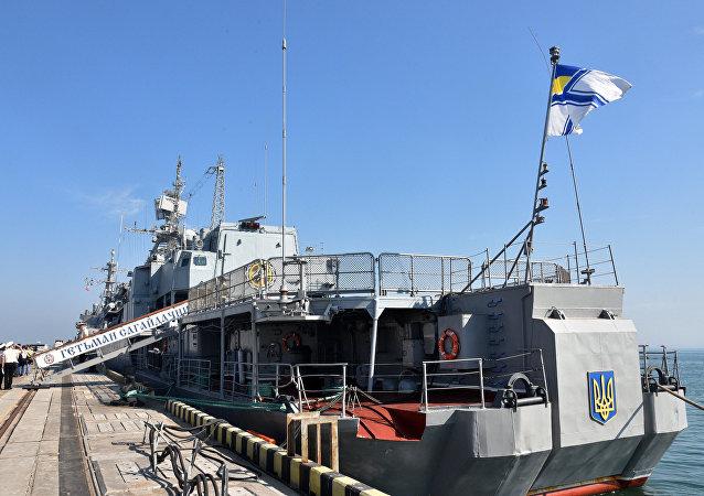 La fragata de la Armada ucraniana Hetman Sahaydachniy