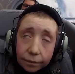 Un niño de ocho años se convierte en un anciano en tan solo unos segundos