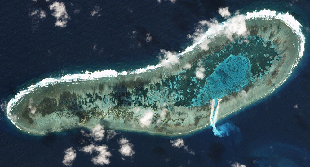 Las islas Spratly en el mar del Sur de China