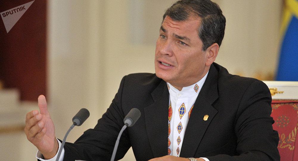 Rafael Correa, el presidente de Ecuador