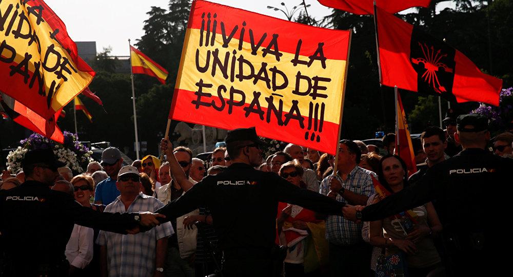 Protestas en Madrid, España