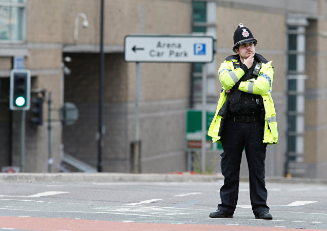 Un policía británico en Mánchester