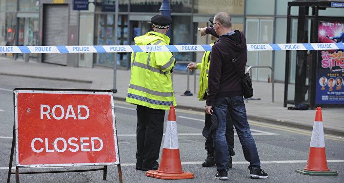 Policía británica en Mánchester, Reino Unido (archivo)