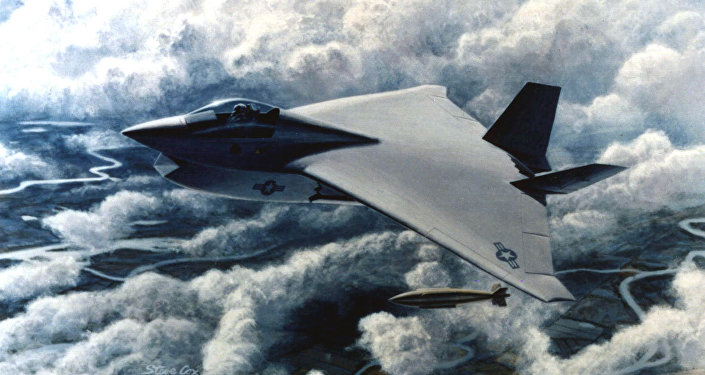 Ilustración conceptual del Boeing Joint Strike Fighter X-32B