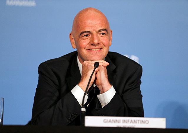 Gianni Infantino, presidente de la FIFA (archivo)