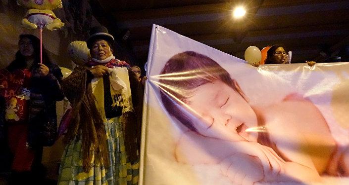 Protesta contra aborto en Bolivia