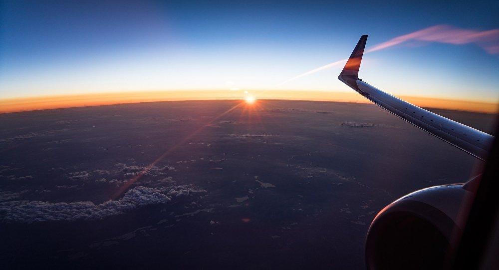 La vista desde el avión