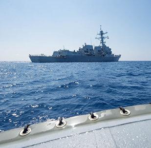 Destructor estadounidense USS Dewey en el mar del Sur de China