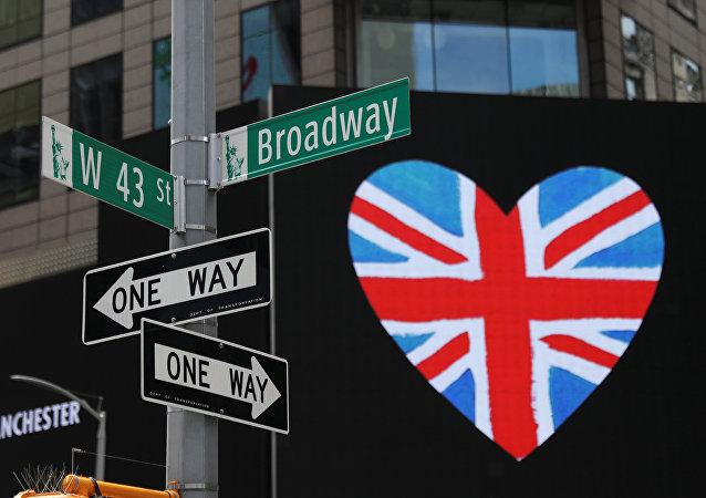 El homenaje en Times Square, Nueva York, a las víctimas del atentado del 22 de mayo en Mánchester