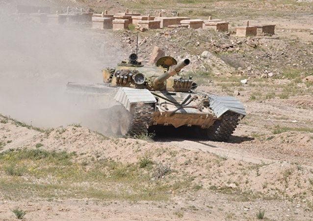 Un tanque T-72 del Ejército de Siria (archivo)