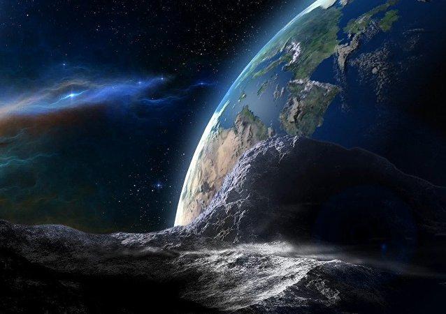 Un asteroide dirigiéndose a la Tierra